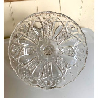 Miniature Muffin or Cake Stand, Vintage Clear Glass Preview