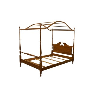 Ethan Allen Heirloom Nutmeg Maple Full Size Canopy Bed For Sale