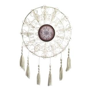 Circular Mandala Triple Goddess Original Large Macrame Tapestry For Sale