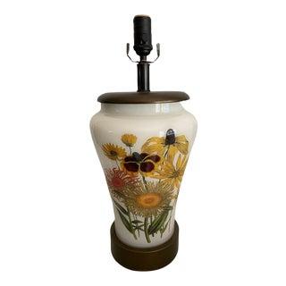 Liz Marsh Flora Yellow Garden Table Lamp For Sale