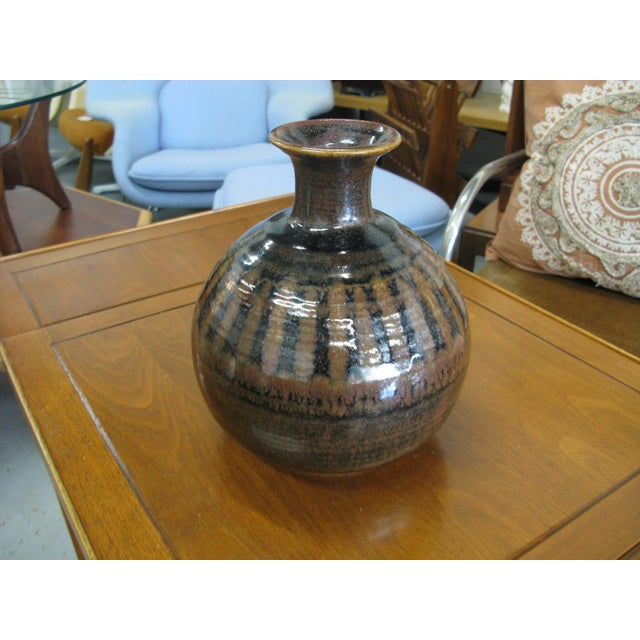1976 Mid-Century Pottery Vase For Sale In Charleston - Image 6 of 11