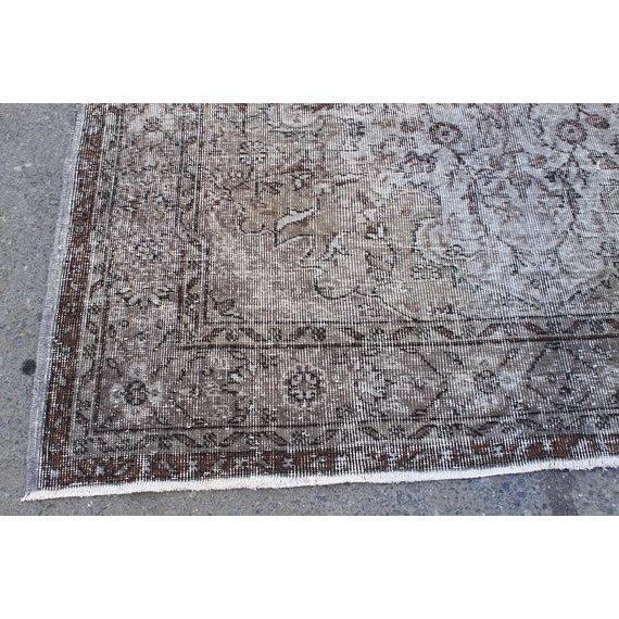"Vintage Oushak Handmade Area Rug - 5'3"" x 8'6"" For Sale - Image 4 of 10"
