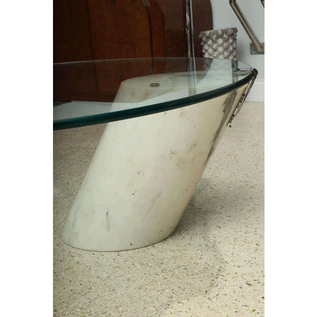 Figurative Marble and Glass Low Table Possibly by Brueton For Sale - Image 3 of 9