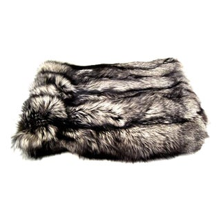 Gambrell Renard Silver Fox Fur Throw