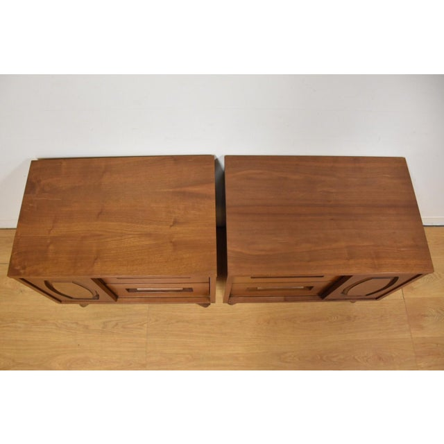 Young Walnut Nightstands - Pair - Image 6 of 10