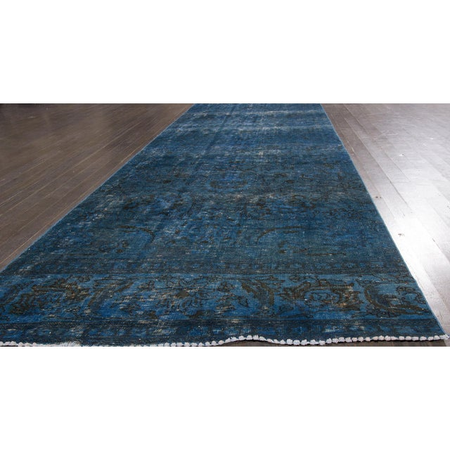 Early 21st Century 21st Century Modern Overdyed Rug For Sale - Image 5 of 6