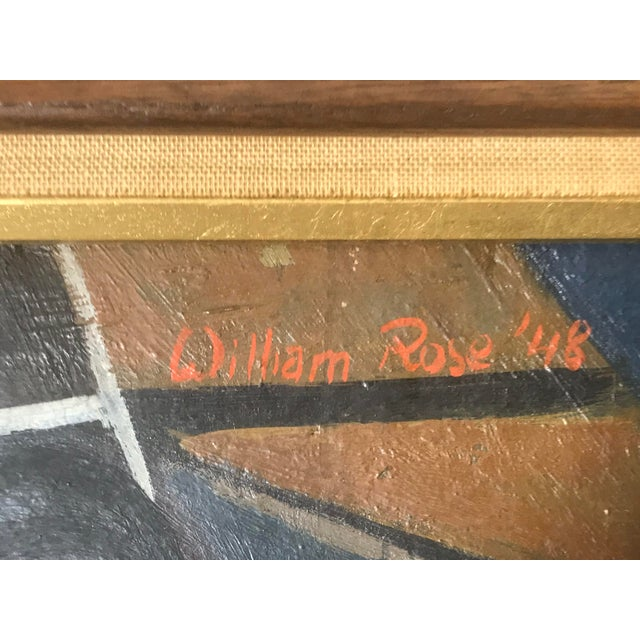 1948 Vintage William Rose Modern Oil Painting For Sale In New York - Image 6 of 10