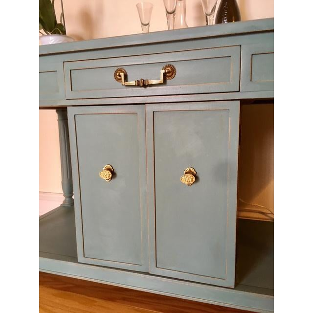 Thomasville Thomasville Blue Wood Buffet / Server For Sale - Image 4 of 10