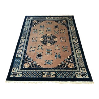 1980s Vintage Chinese Peking Rug - 5′7″ × 8′1″ For Sale