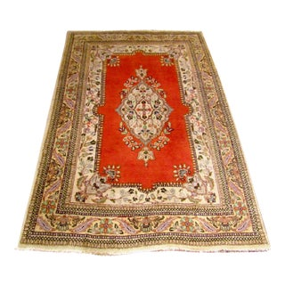 Final Markdown Vintage Persian Tabriz Rug - 3′9″ × 5′6″