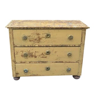 Antique French Three Drawer Chest For Sale