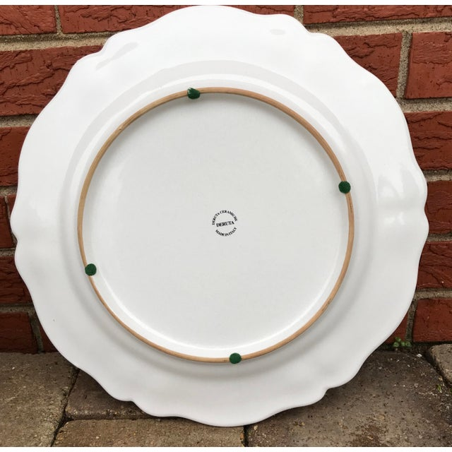 Ceramic Deruta Italian Renaissance Woman Ceramic Serving Plate For Sale - Image 7 of 8