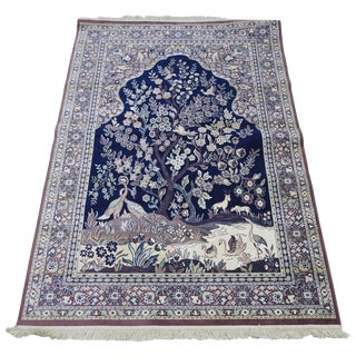 Mid-20th Century Silk Tapestry Rug For Sale