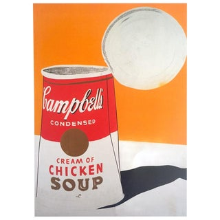 """Andy Warhol Foundation Rare Vintage 1993 Collector's Lithograph Pop Art Print """" Campbell's Soup Can ( Cream of Chicken Soup ) """" 1962 For Sale"""