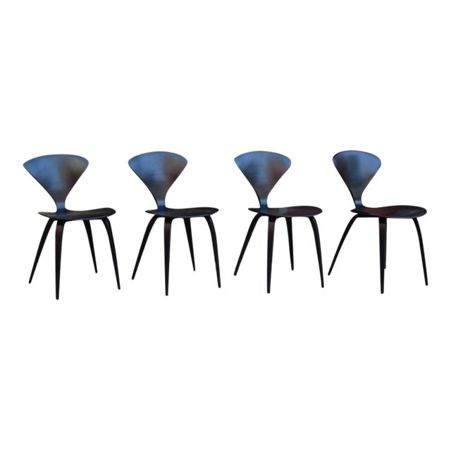 vintage norman cherner for plycraft dining chairs set of 4 chairish