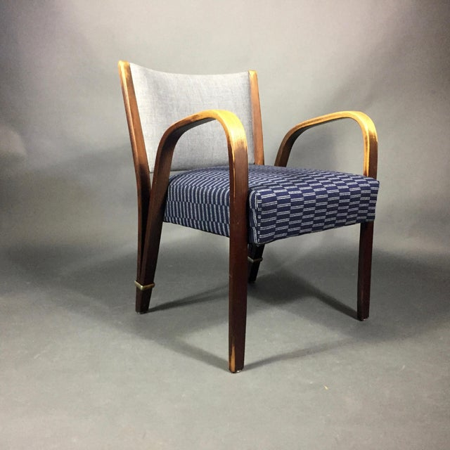 """Bow Wood"" Armchair, Hughes Steiner, France 1950s For Sale - Image 4 of 8"