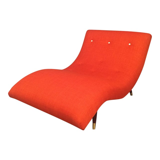 Adrian Pearsall Style Orange Wave Lounge Chaise - Image 1 of 11