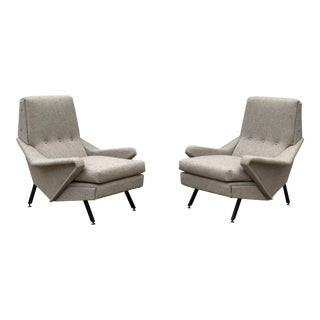 Italian Lounge Chairs- A Pair For Sale