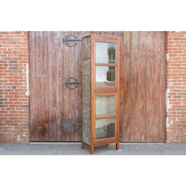 Tall 19th Century British Colonial Glass Cabinet For Sale - Image 12 of 13
