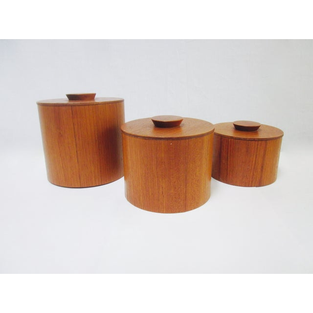 Danish Modern Teak Canister Set - Image 2 of 11