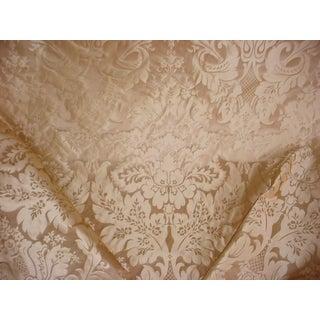 Kravet Couture 24354 Limoges Pongee Sesame Silk Damask Upholstery Fabric- 13-1/4 Yards For Sale