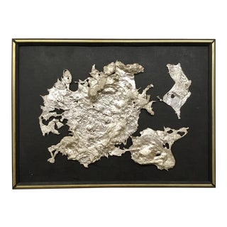 Spill Cast Aluminum Wall Sculpture After Bertoia For Sale