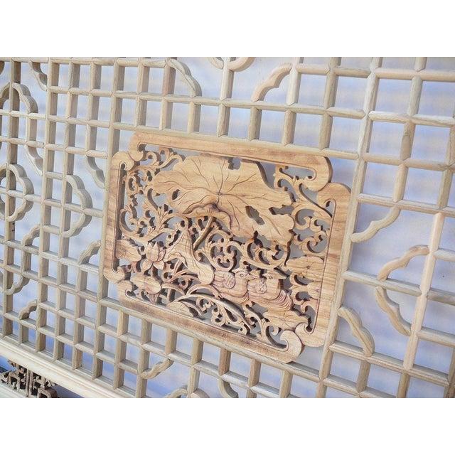 Geometric Lotus Ducks Wood Wall Decor For Sale - Image 5 of 6