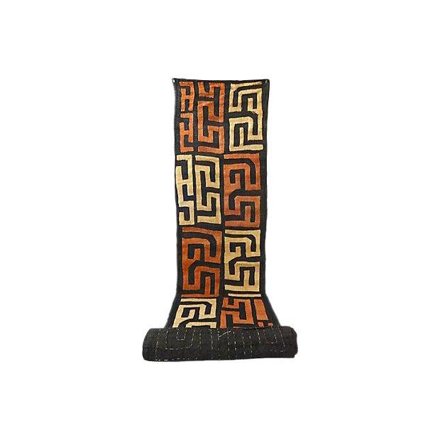 African Kuba Textile Raffia Wall Hanging - Image 1 of 9