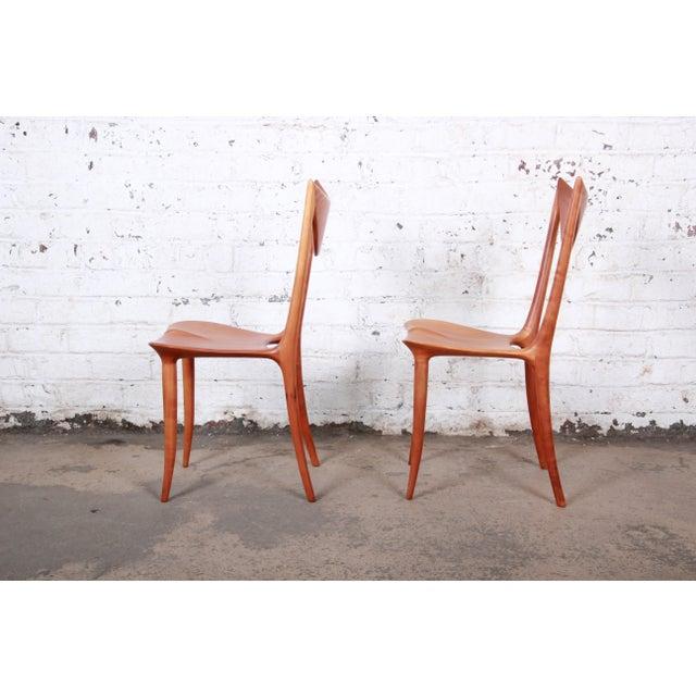 "1980s Oskar Kogoj Studio Craftsman Sculptural ""Venetia"" Chairs - a Pair For Sale - Image 5 of 13"