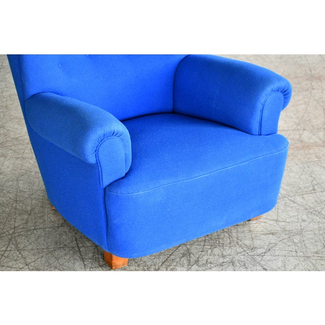 Fritz Hansen Danish Midcentury Fritz Hansen Style Large Scale Club or Lounge Chair, 1940s For Sale - Image 4 of 10