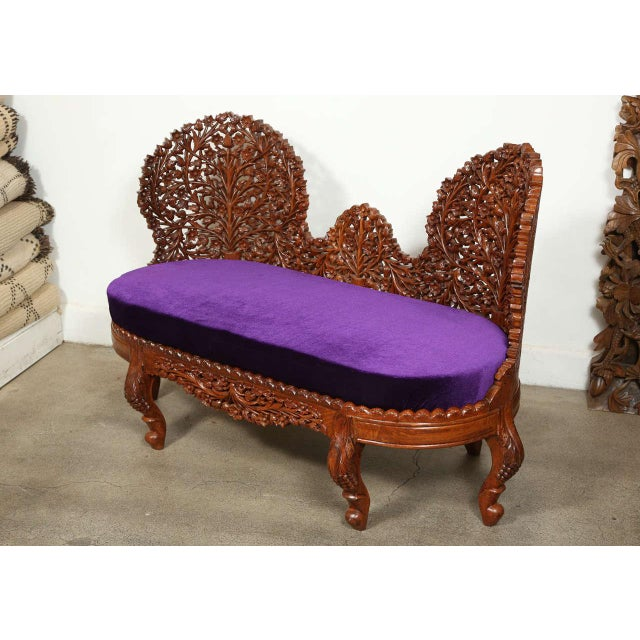 Contemporary Anglo-Raj Settee and Side Chairs Suite For Sale - Image 3 of 10