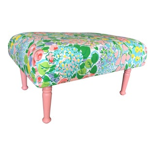 Antique Remixed Floral Ottoman For Sale