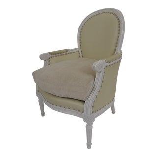1960s Louis XVI Style Bergère For Sale