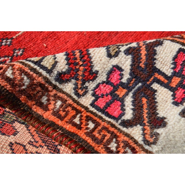 """Vintage Hand Knotted Persian Kazak Area Rug - 3' 11"""" X 7' 6"""" For Sale - Image 4 of 10"""