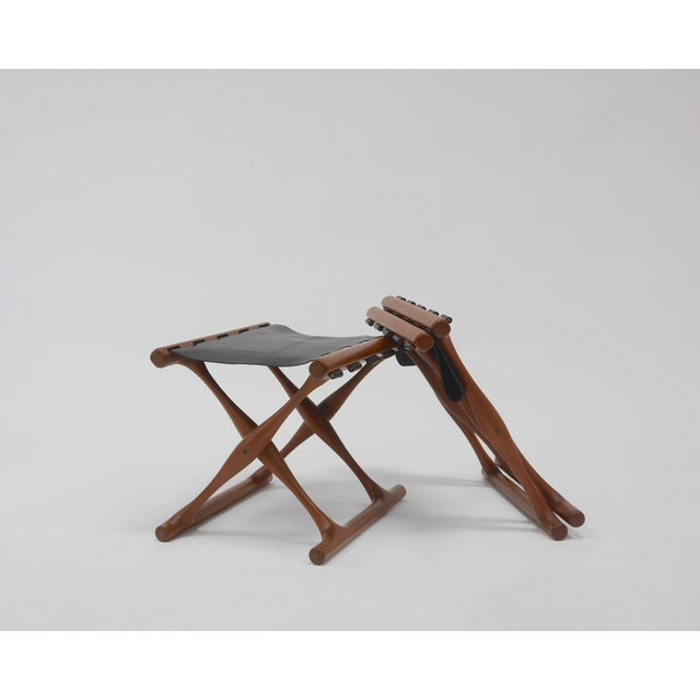"""Pair of """"Guldhøj"""" Stools by Poul Hundevad For Sale - Image 9 of 9"""