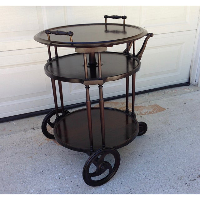 Irving & Casson Antique Wooden Bar Cart - Image 2 of 7