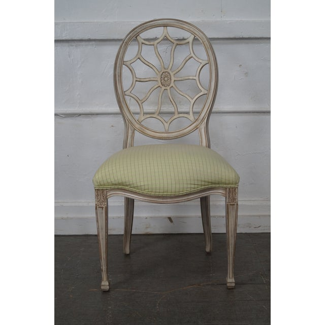 Pama Painted Spider Back Regency Style Side Chair Chairish