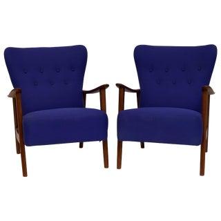 Pair of Aksel Bender Madsen Armchairs For Sale