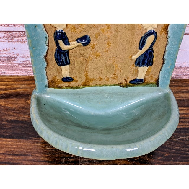 Expressionism 1930s Folk Art Hanging Art Pottery Fountain For Sale - Image 3 of 6