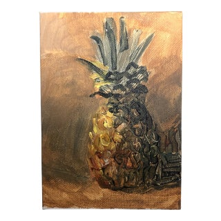 Original Contemporary Impressionist Pineapple Still Life Painting For Sale