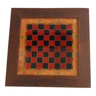 19thc Original Reverse Painted Game Board