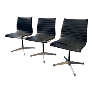 Herman Miller for Eames Aluminum Armless Office Chairs - Set of 3 For Sale