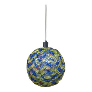 1960s Vintage Mid Century Modern Spaghetti Ball Hanging Lamp For Sale