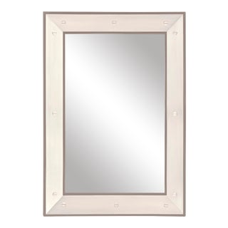 Edge Mirror in Taupe / Nickel - Flair Home for The Lacquer Company For Sale