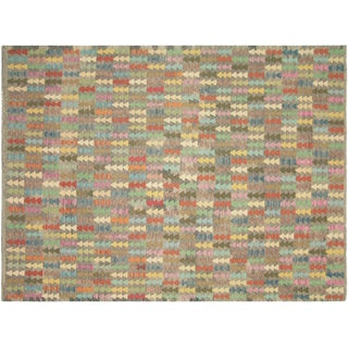 """Nalbandian - Contemporary Afghan Kilim - 7'1"""" X 9'5"""" For Sale"""
