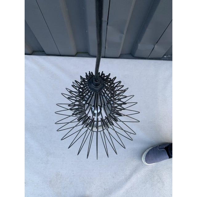 Contemporary Contemporary Black Wire Chandelier For Sale - Image 3 of 5