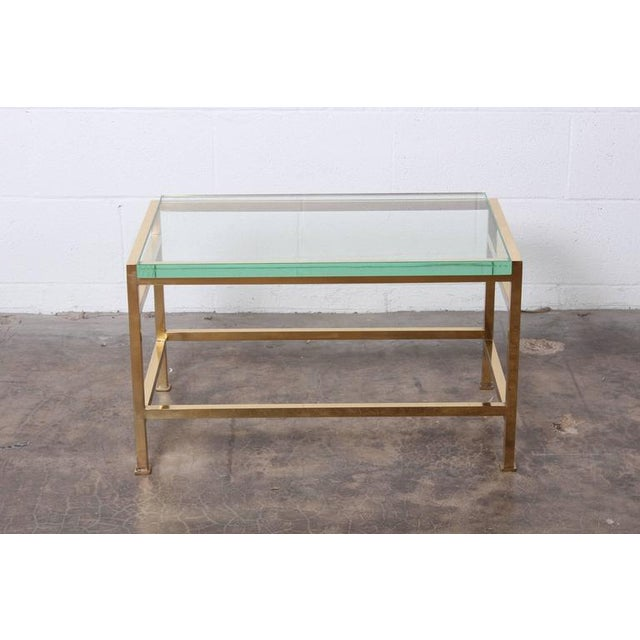 Gold Bass Bench and Table by Edward Wormley for Dunbar For Sale - Image 8 of 10