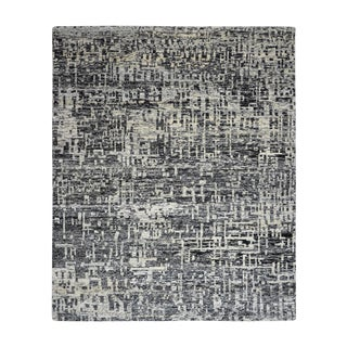 Hand-Knotted Modern Rug - 8′ × 10′ For Sale