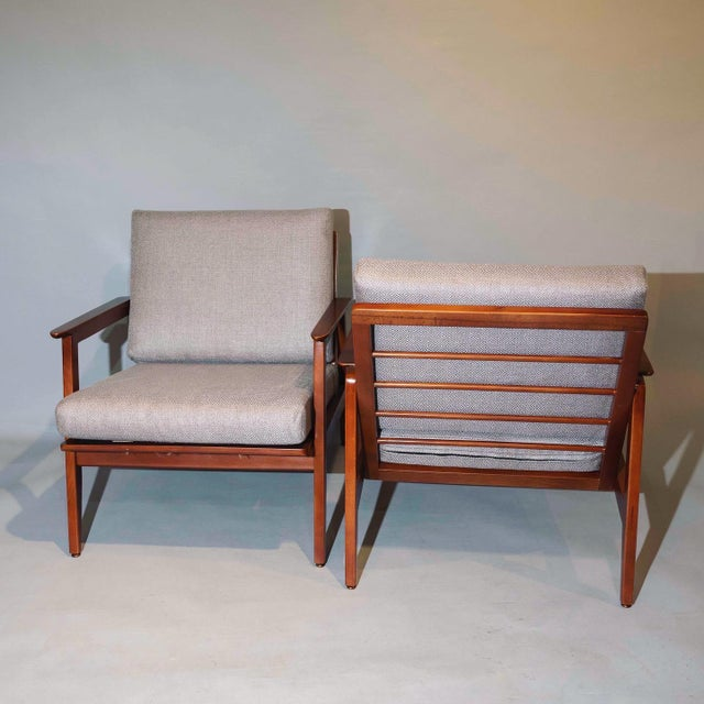 Vintage Mid Century Lounge Arm Chairs - a Pair For Sale - Image 4 of 7