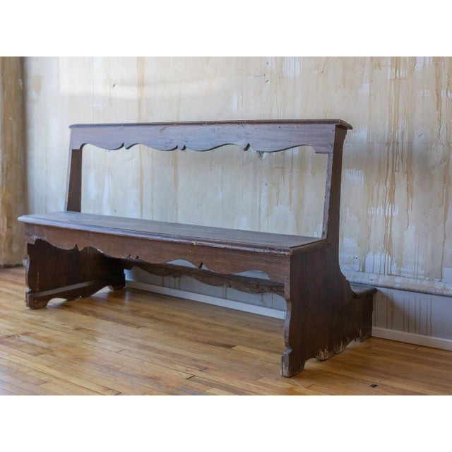 Italian Antique Church Pew For Sale In Kansas City - Image 6 of 12